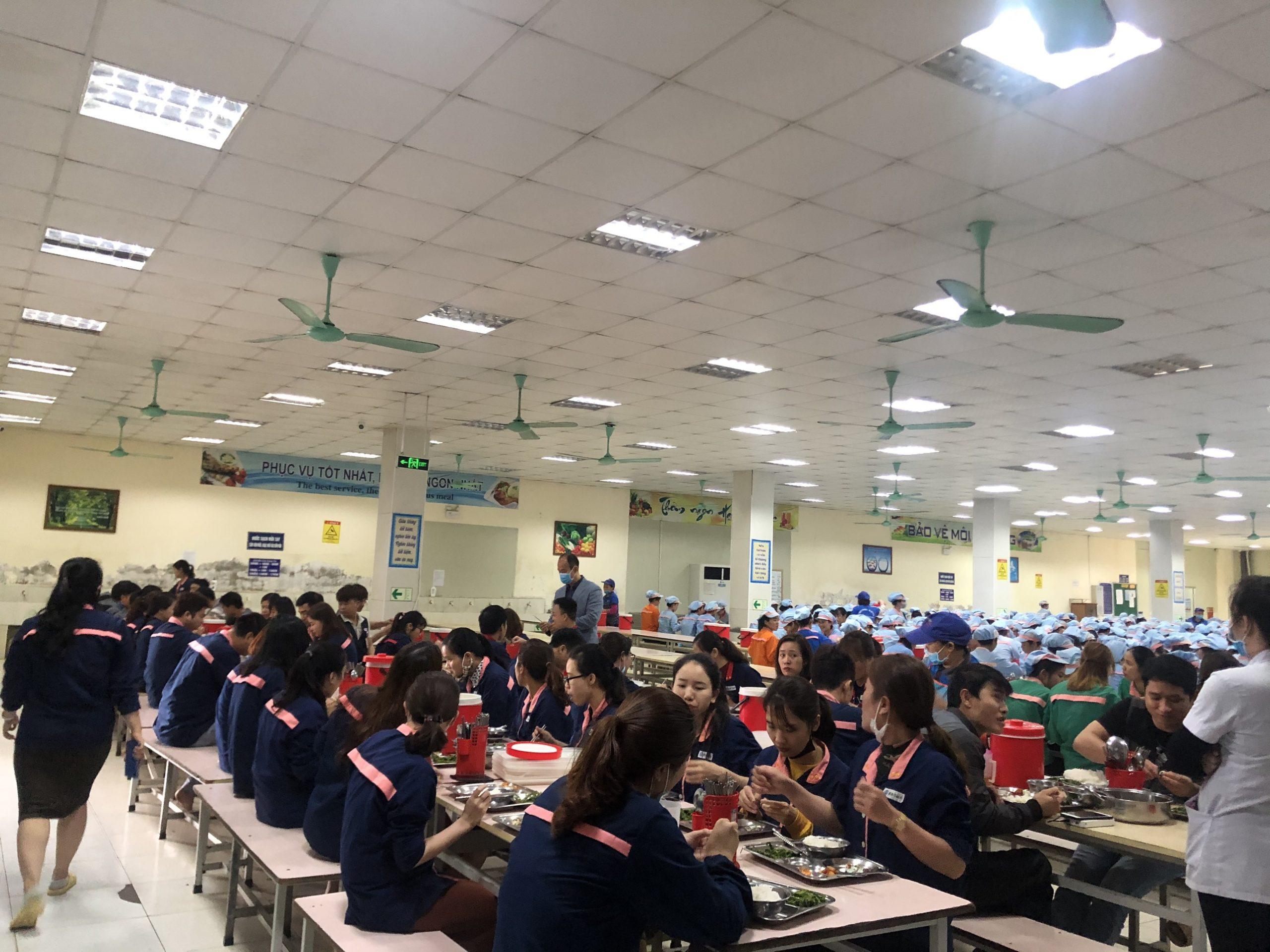 dịch vụ cung cấp suất ăn công nghiệp tại Hải PHòng